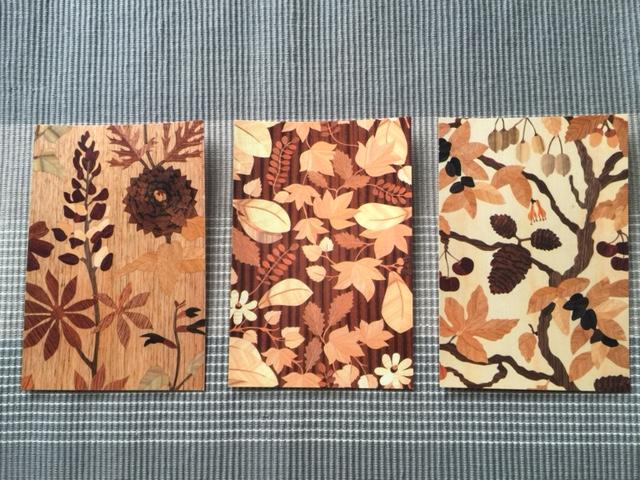 ポストカード|花、実、葉  |木象嵌で作ったオリジナル