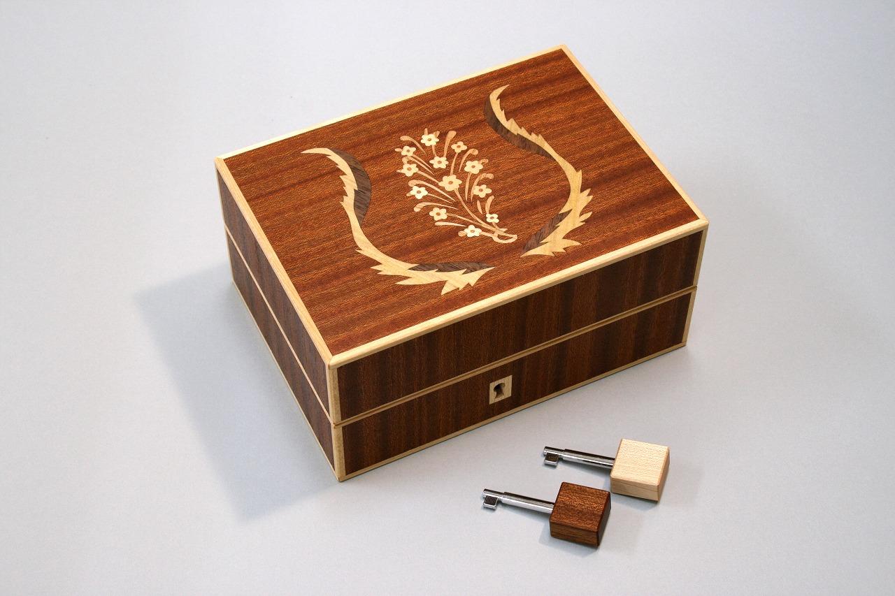 象嵌小箱 鍵付