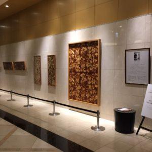 JRタワーホテル日航札幌 ロビーにて個展が始まっています。
